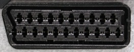 View of SCART input